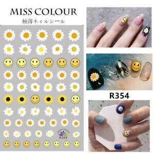 Nail Stickers Nail Art Decal DIY Daisy Emoji Happy Face