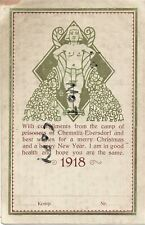 Rare WW1 Xmas greetings card 1917 ? Chemnitz Ebersdorf Germany Prisoner of War