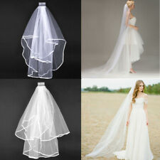 1M/2M White Ivory  Long Prom Gown Wedding Bridal Veil Cathedral Length With Comb