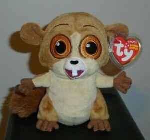 Ty Beanie Baby - MORT the Lemur (Madagascar Movie) MWMT - RARE & VHTF