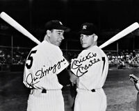 Mickey Mantle Joe Dimaggio Autographed Repro Photo 8X10 Yankees 1951 New York #3
