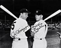 Mickey Mantle Joe Dimaggio Autographed Repro Photo 8X10 Yankees 1951 New York #3