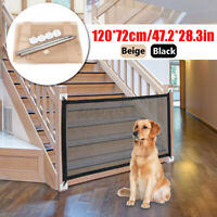 Retractable Pet Dog Gate Safety Guard Folding Baby Toddler Stair Gate  Q