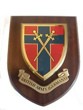 British Army of the Rhine Germany Military Shield Wall Plaque