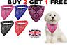 DOG NECK SCARF BANDANA WITH COLLAR - ADJUSTABLE CAT PET PUPPY NECKERCHIEF - UK