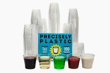 100 Shot Glasses: Premium 1oz Clear Plastic Disposable Cups
