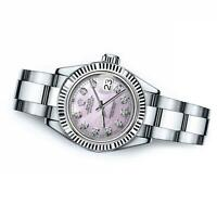 Ladies Rolex 26mm Datejust Pink MOP Mother Of Pearl Dial with Diamond Accent