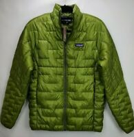 Patagonia Mens Micro Puff Insulated Jacket Full Zip Coat Olive Herb Green Large