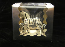 Vintage Collector's Miniatures Zebras 3 Piece Family Set Genuine Bone China Nib