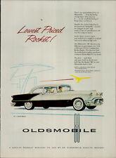 1956 Oldsmobile Lowest Priced Rocket Vintage Print Ad 3213