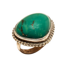 Ring 925 Sterling Silver Turquoise Beautiful India Vintage Jewelry MB347DP