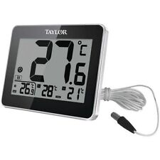 TAYLOR 1710 Indoor/Outdoor Thermometer with Wired Probe