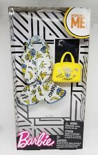 Barbie Doll Despicable Me Banana Minions Deluxe Fashion Pack Jumper Outfit Rare