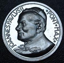 1983 COMMEMORATIVE POPE JOHN PAUL II-Joannes Pavlvs Pont Max MEDAL - .925 Silver