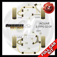 Jaguar S Type - X202/4/6 02-09 Rear Arm Bush 58mm Long Powerflex Black Full Kit