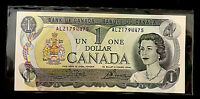 $1 1973 Bank of Canada Note • Serial # ALZ1794475 • Unc • Crow/Bouey