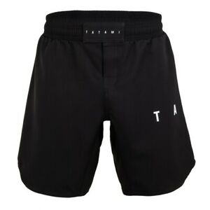 Tatami Standard Edition Black Grapple Fit Shorts BJJ No Gi Size Small