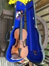 Antique Viola And Hard Case Signed Tomas Balledtrini