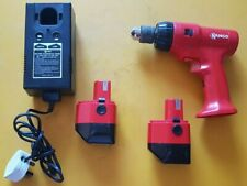 Kango cordless drill driver 9.6v w/batteries charger carry case