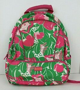 LILLY PULITZER How About Them Apples Adult Backpack School Travel Bag VGUC