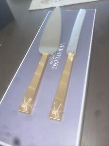 Vera Wang Love Knots Gold Cake Knife And Server