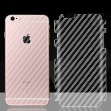 Soft Carbon Fiber Sticker Full Cover Back Film Protector for iPhone 6s 7 Plus SE