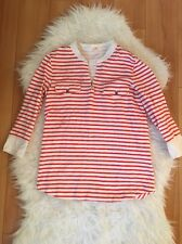 J. Crew Red & White Striped 3/4 Sleeve Top Size XS