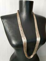 """Vintage Liquid Silver necklace 50 strands 32"""" 80 gr Sterling Silver 925"""