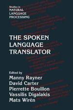 Studies in Natural Language Processing Ser.: The Spoken Language Translator...