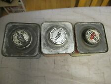 Lot of 3 Hercules Powder Tins / cans only Bullseye, Red Dot