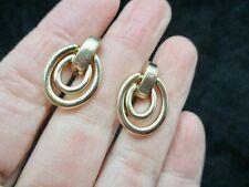 Enamel Clip Earrings Vintage Napier Jewelry Neutral Clip Gold Tone Earrings Napier Earrings Square Earrings