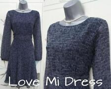 M&S Collection - Stunning 40's Style Navy Mix Tea Dress Sz 8 EU36