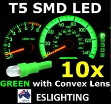 10X T5 GREEN SMD LED DASH INSTRUMENT LIGHT DASHBOARD BULB GLOBE CONVEX LENS 12V
