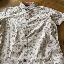 Mish Mash Small fitted flowered shirt (short sleeve) last one