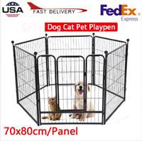 6 Panel Heavy Duty Pet Playpen Cat Dog Exercise Pen Cat Fence  27.6x31.5 Inch