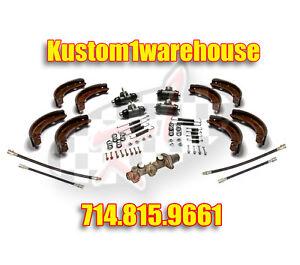 New Brake kit 1968 VW Volkswagen Bug master wheel cylinders brake hoses shoes