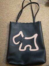 Ladies Black Shopper Bag With Dog Motif