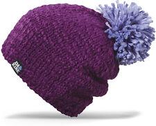 Dakine ALEX Womens Oversized 100% Acrylic Pom Beanie Dark Purple NEW