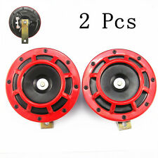 2 X 12V Dual Tone Car Super Loud Electric Compact Horn Speaker For SUV Off-Road