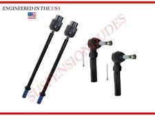 4PC Inner/Outer Tie Rod Ends for Chevrolet Malibu Pontiac G6 Saturn Aura