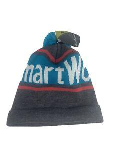 *NEW* SmartWool Women's logo Retro Beanie Hat Pom Pom