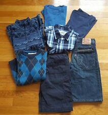 Boys Lot 7 Items: M Fleece, M Sweater, M Shirt, M T-Shirts (2), 10 & 12 Shorts