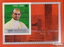 Nordjemen (Arabische Rep.) Block101 (kompl.Ausg.) postfrisch 1969 Papst Paul VI.