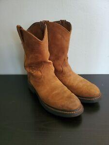 Mens Ariat Sierra Brown Suede Soft Toe Work Boot Size 9.5