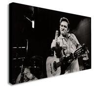 Johnny Cash  - Canvas Wall Art Framed Print - Various Sizes