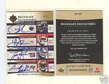 2006 SP AUTHENTIC LADAINIAN TOMLINSON, BROWN, + EIGHT AUTOGRAPH AUTO's #4/5