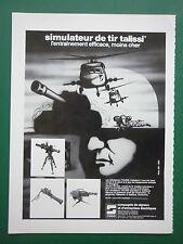 5/83 PUB CSEE SIGNAUX SIMULATEUR DE TIR TALISSI MISSILE MILAN HOT MISTRAL AMX AD