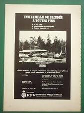 1967 PUB FFV BLINDES HAGGLUNDS VTT 302 POSEUR DE PONT 941 SWEDEN  FRENCH AD