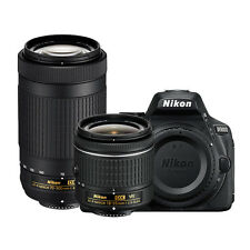 Nikon D5600 24.2MP DX-Format DSLR Camera with AF-P 18-55mm VR & 70-300mm ED Lens