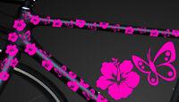 24-teiliges Fahrrad Hibiscus Aufkleber Hibiskus Blumen Schmetterlinge Bike